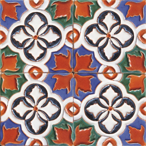 Spanish Moorish Tiles Islamic Moroccan Portuguese Tile Azulejo from Portugal