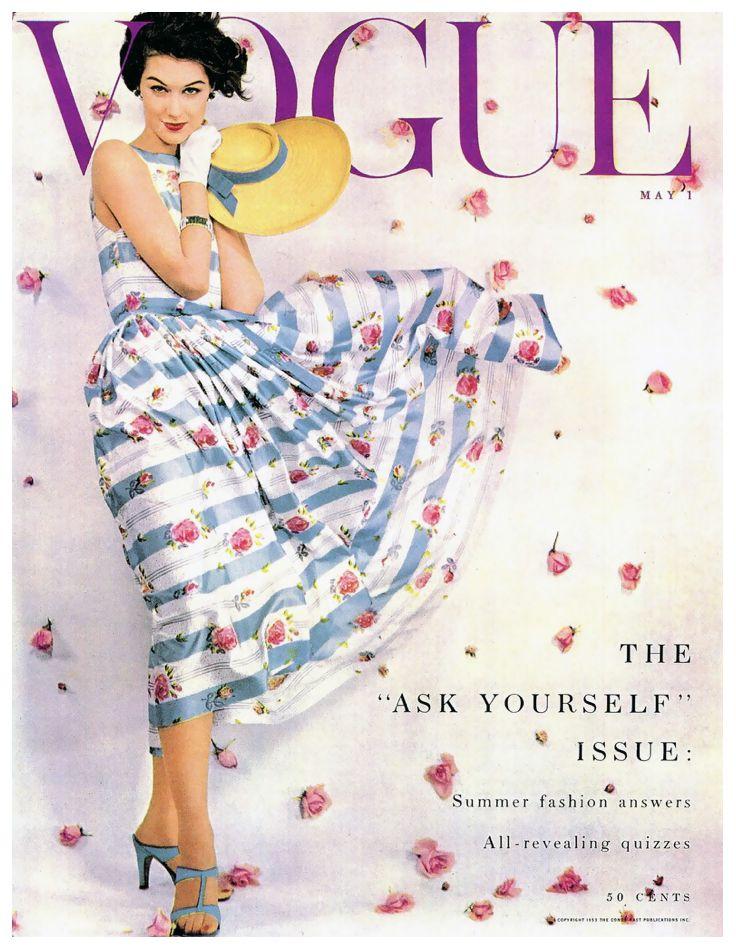 Nancy Berg Vogue Cover by Blumenfeld, May 1 1953