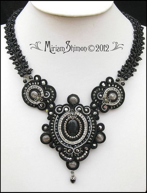 Black Delilah Soutache necklace by Cielo Design, via Flickr