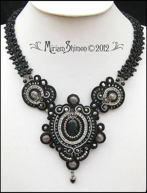 Black Delilah Soutache necklace by Cielo Design, via Flickr