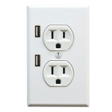 U-Socket, so you can charge your usb items right from the wall!  COOL!