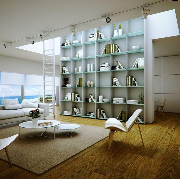 Elegant Home Library Furniture  Library Shelves In Beachside Home    bidycandy com Furniture Inspiration. 24 best Home Library Furniture images on Pinterest