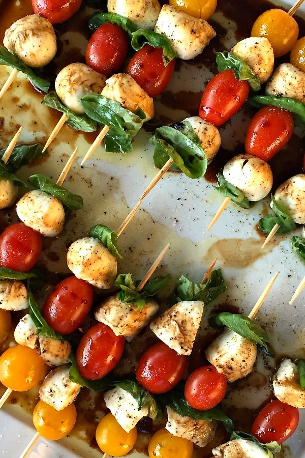667 best appetizer recipes images on pinterest classic coconut mini caprese skewers yummy fresh finger foods for a party forumfinder Images