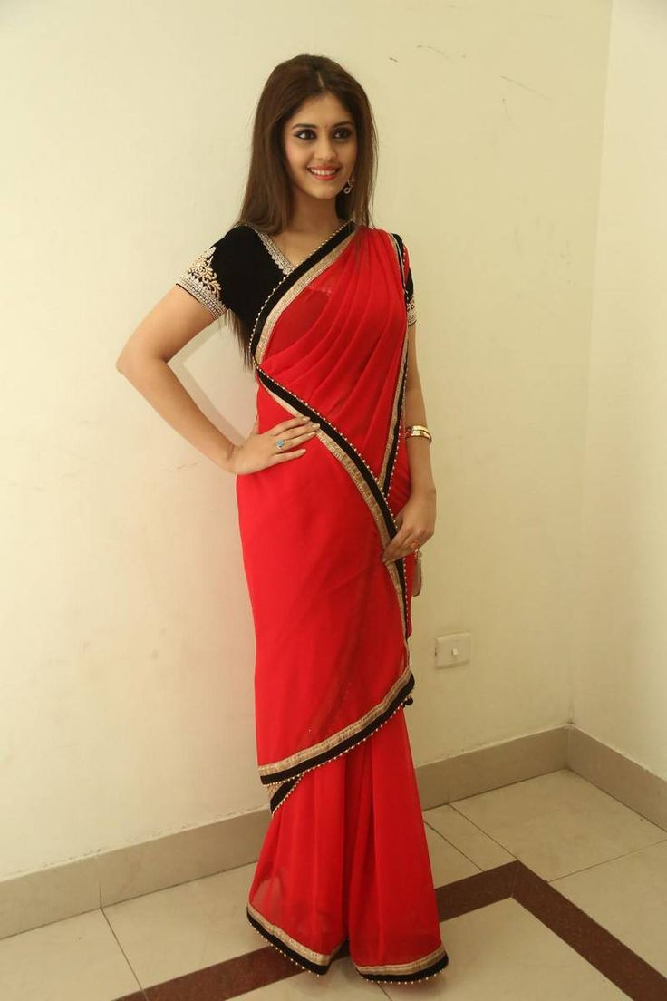 Surabhi Latest Saree Photos at Express Raja Movie Audio Launch Stills