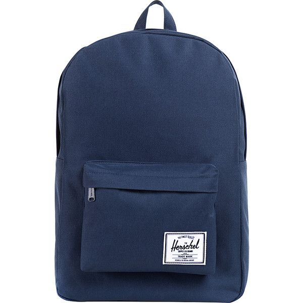 Herschel Supply Co. Classic Backpack (€36) ❤ liked on Polyvore featuring bags, backpacks, backpack, blue, school & day hiking backpacks, backpacks bags, rucksack bag, herschel supply co., blue bag and herschel supply co backpack
