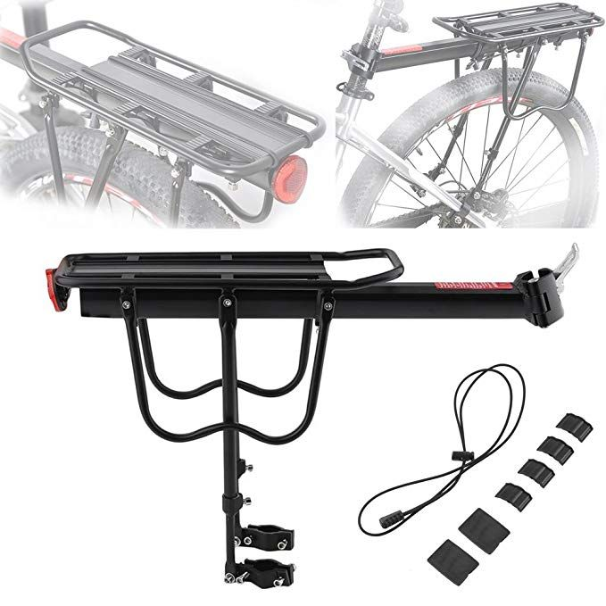 Aluminium Alloy Bike Rear Rack Pannier Luggage Rack Quick Release Carry Rack