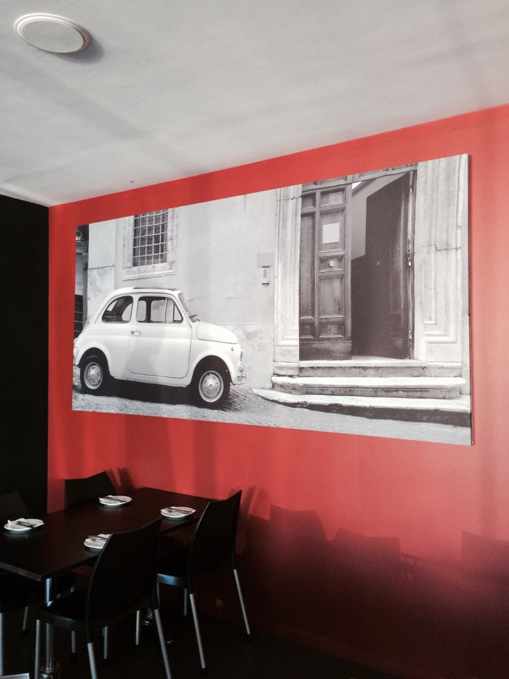 Digitally Fabric Printed Photo for The Little Italian