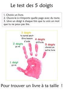test des 5 doigts