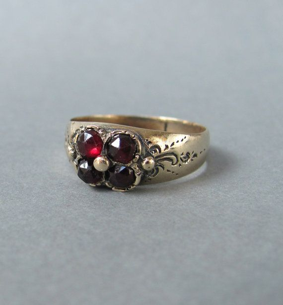Hey, I found this really awesome Etsy listing at https://www.etsy.com/listing/270903480/early-victorian-rose-cut-foiled-garnet