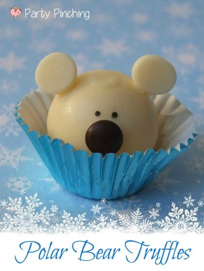 easy polar bear truffles tutorial using LINDOR truffles @Lindt Chocolate