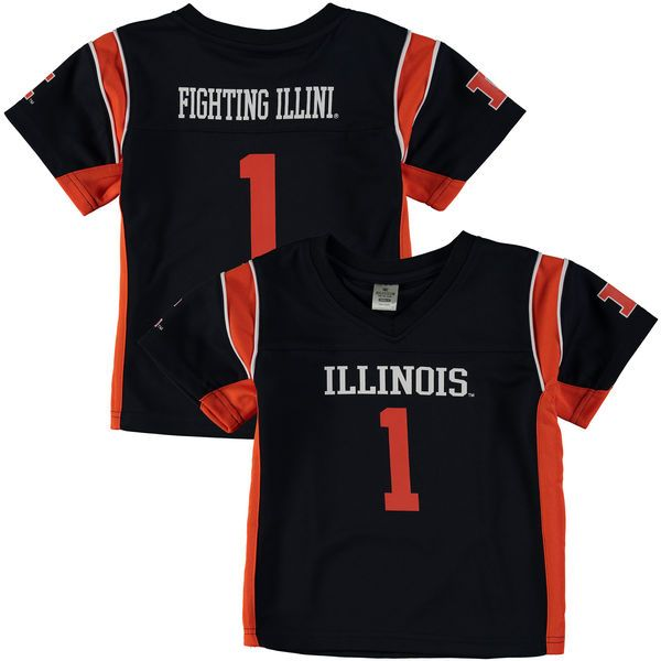 #1 Illinois Fighting Illini Colosseum Youth Football Jersey - Navy - $49.99