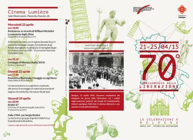 21-25 aprile 70° aniinversario della liberazione dell'Italia dalla guerra (info click foto)