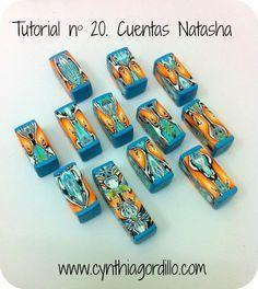 Polymer clay Natasha beads tutorial (mirror beads)