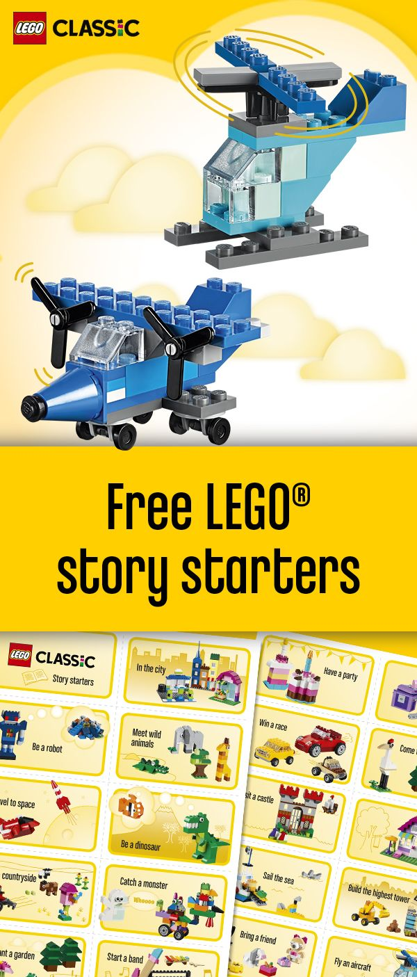 Telling stories through creative play - check out some creative keywords you can use as inspriration to start building and telling stories with your family: http://lego.build/292zDSp