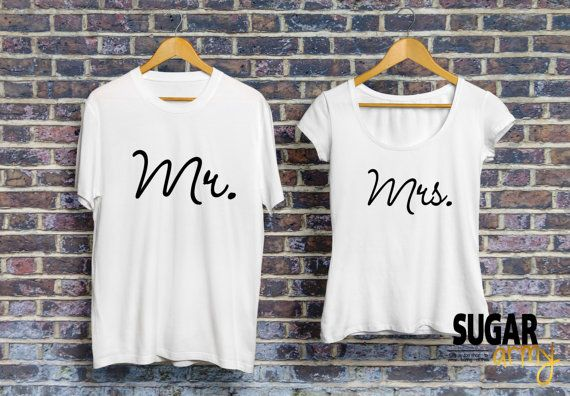 Mr and Mrs shirts for couples, matching couple shirts, husband and wife tshirts, gift for her, gift for him, bf gf matching outfit