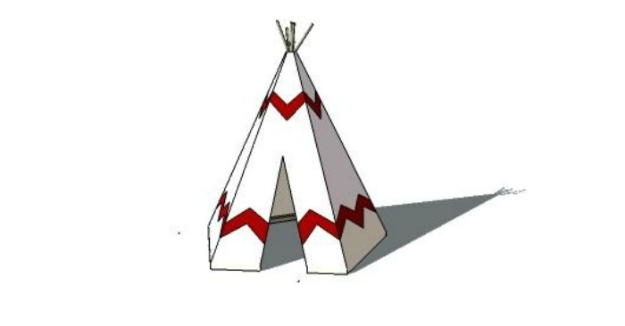 Free DIY Plans for a Knock-Off No-Sew Land of Nod Inspired Play Tee Pee
