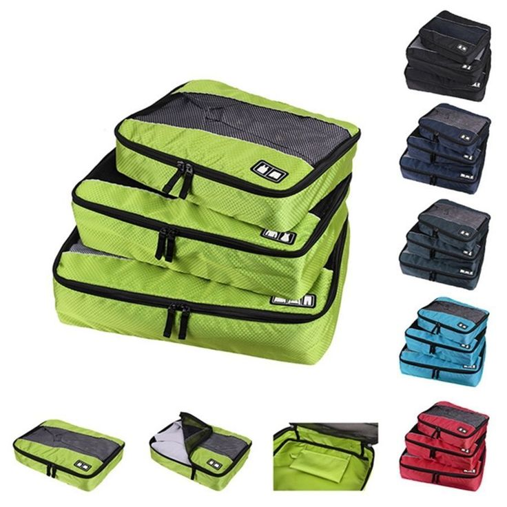 Waterproof Clothes Storage Bags Packing Cube Travel Luggage Organizer Pouch 3pcs #Unbranded