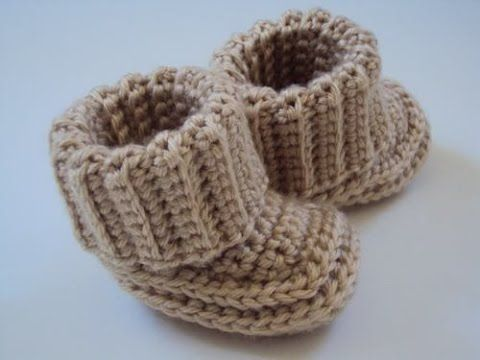 COMO HACER ZAPATITOS DE BEBE A CROCHET - YouTube