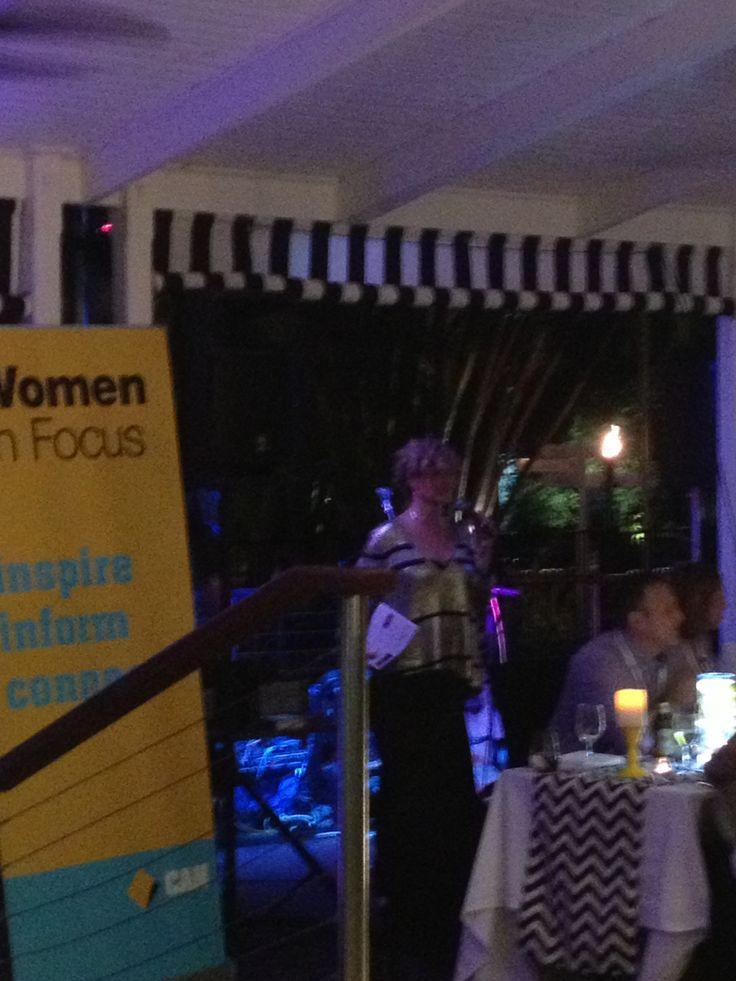 The ever-vivacious Karen James, General Manager Women In Focus & Affiliate Business Banking welcomes delegates https://www.womeninfocus.com.au/people/karen.james #womenCAN