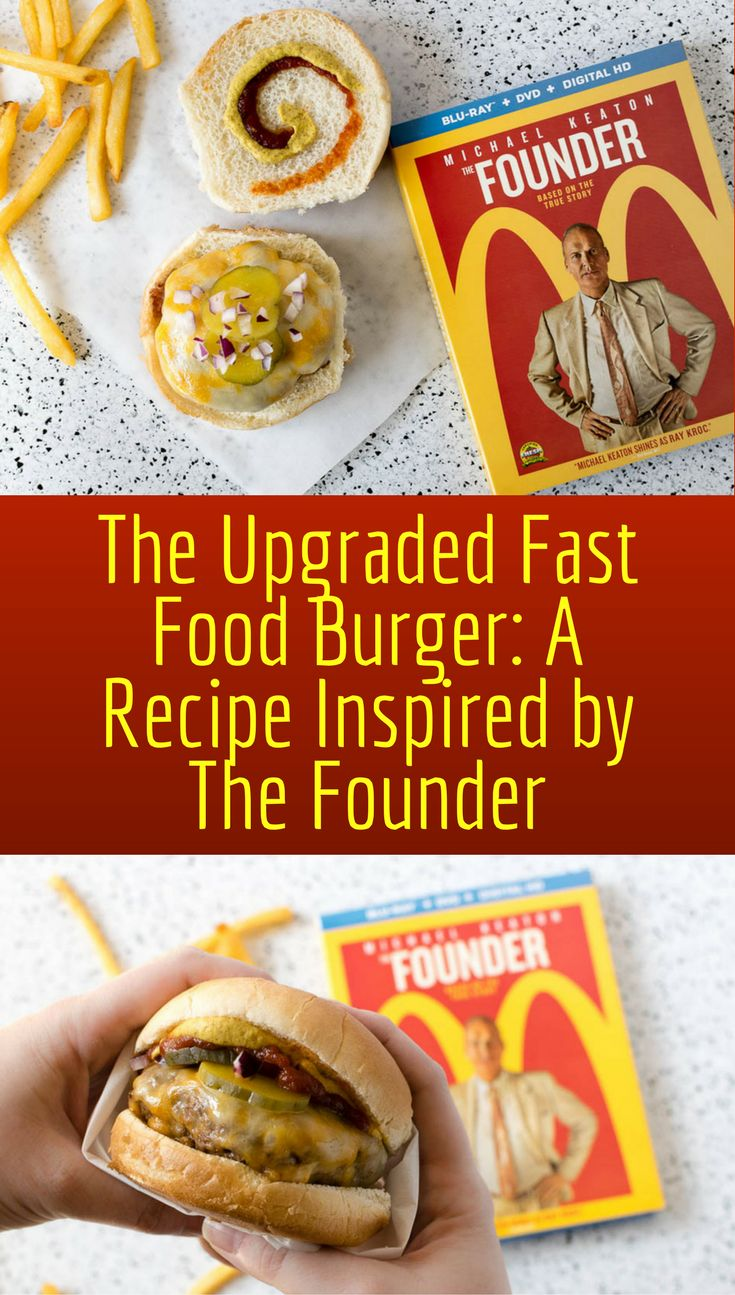Movie Recipes | Hamburger Recipes | Fast Food Burger | Love those little fast food burgers? Inspired by the movie The Founder, we made a few upgrades. 2geekswhoeat.com [ad]