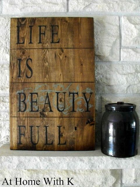 diy signs for the home | Pinned by Providencia Bander