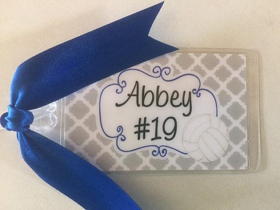 Volleyball Team Bag Tag Personalized by PaisleyChickInks on Etsy