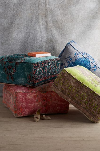 seriously need these.  Alanya Pouf - anthropologie.com