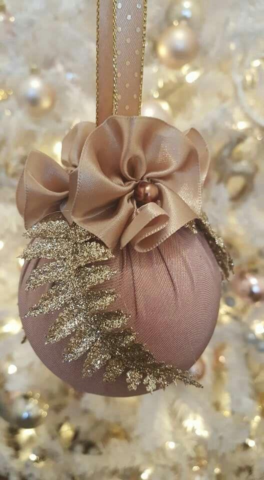 Ribbon flowers....glitter leafs .... warm pallette  .. ornaments 2016