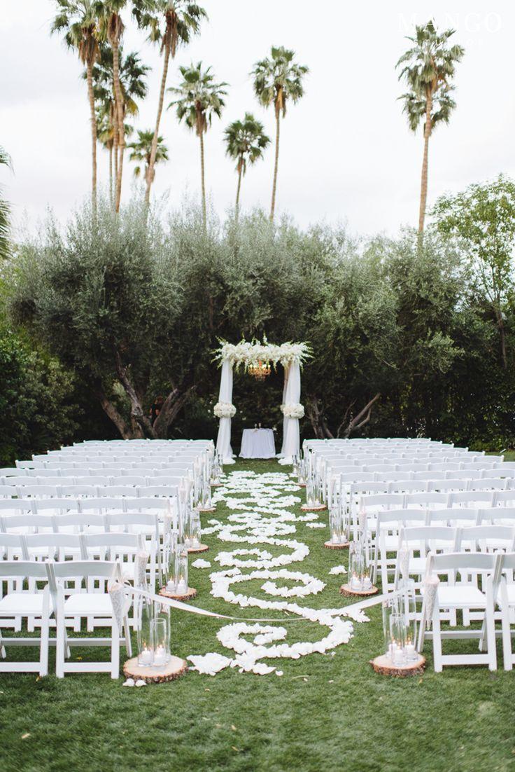 #glamorous #elegant #wedding #ceremony #aisle #white #timeless #elegant #outdoor #ceremony