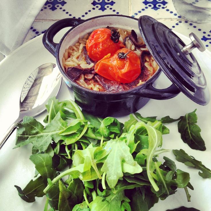 Cocotte de Arroz com Bolets e Cèpes