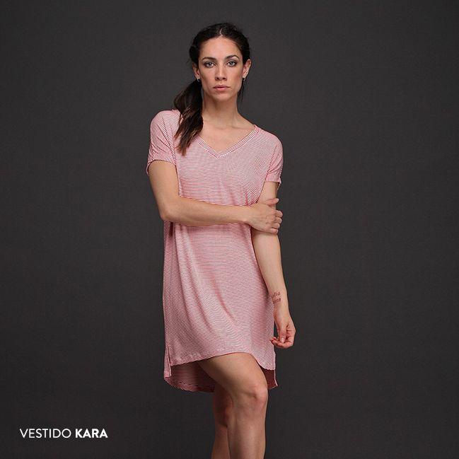 ¡Nada más cómodo que el Vestido Kara! Una prenda fresca y holgada que se adapta a cualquier tipo de silueta.