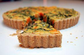 Vegan Swiss Chard & Yam (sweet potato) aquafaba Quiche