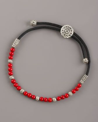 Coral Bead Bracelet By John Hardy At Neiman Marcus
