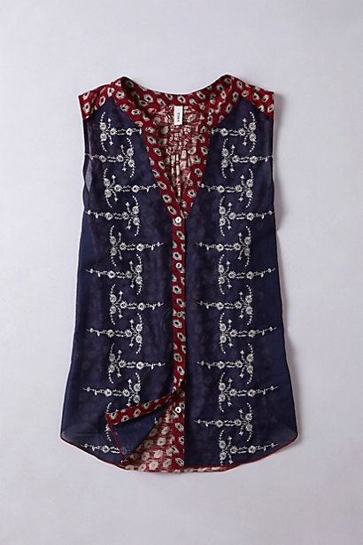 Sprigstitch Top #anthropologie
