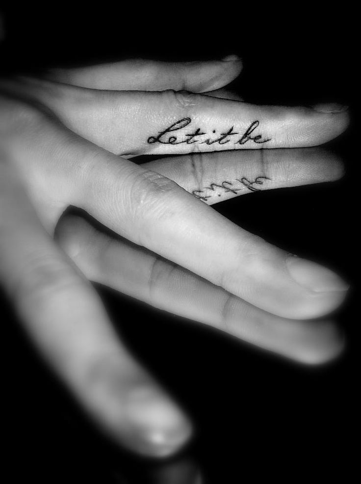 "My ""Let It Be"" finger tattoo"