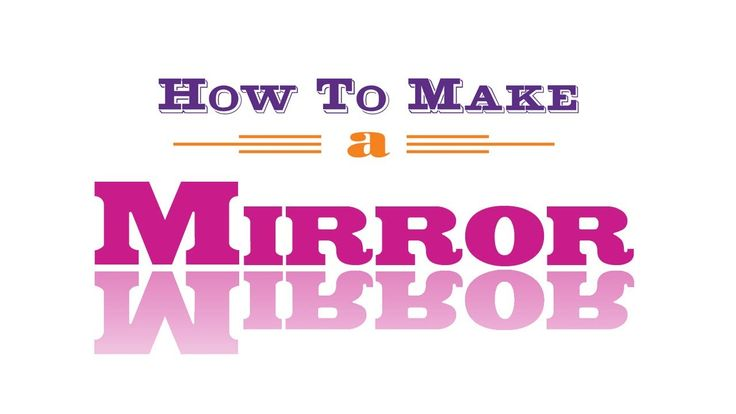 How to make a mirror with your button maker