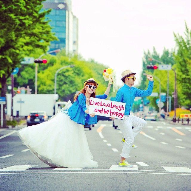 take fun wedding on street...街中でゲリラ!ロケーションフォト^