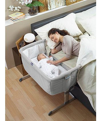 Chicco Next 2 Me Bedside Crib - Silver - cribs - Mothercare