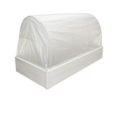 """Greenhouse Replacement Cover Size: 43"""" x 48"""" x 96"""" by Guarden. $96.59. GN4896F Size: 43"""" x 48"""" x 96"""" This custom-fit, distinguishable greenhouse-film is 8mml thick and reinforced for durability. The specially formulated """"diffused light"""" film increases photosynthesis for earlier and fuller development of healthier, disease-resistant plants. Features: -Use in winter, early spring and late fall. -Provides solar heat and protection from frost. -Diffuses the sunlight and eliminates..."""