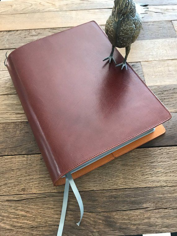 Large Print Nwt Cognac Leather Bible Cover Leather Bible Leather Bible Cover Bible Covers