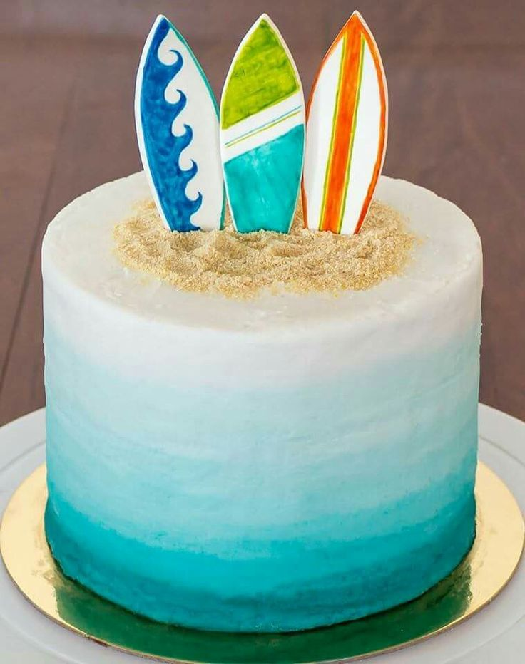 Surfboard cake More