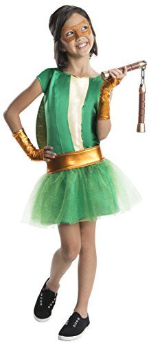 Rubies Teenage Mutant Ninja Turtles Deluxe Michelangelo Tutu Dress Costume Child Medium *** Check this awesome product by going to the link at the image-affiliate link.
