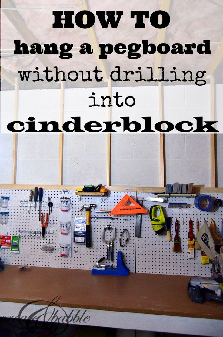 how-to-hang-pegboard-without-drilling-into-cinder-block-by-createandbabble.com