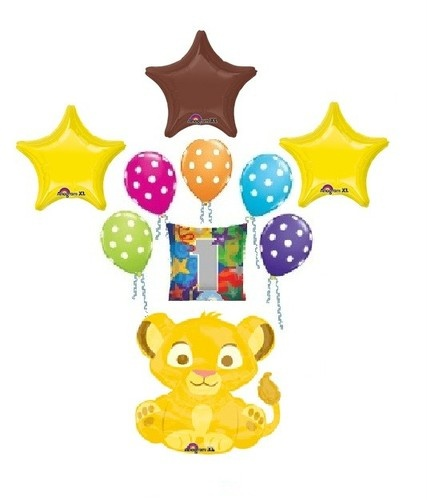 Disney Lion King Simba First 1st Birthday Balloons Decorations Party Supplies