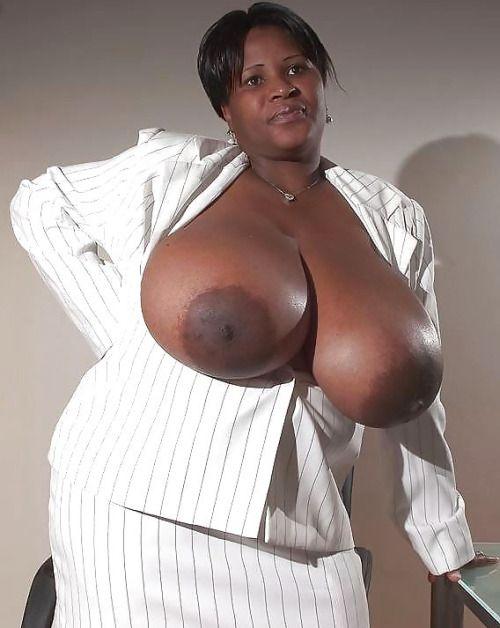 Massive ebony breasts