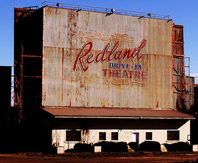 redlandtx drivein screen abandoned drivein outside of