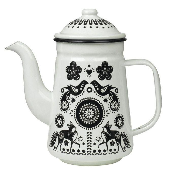 Folklore Enamel Teapot | Wild and Wolf