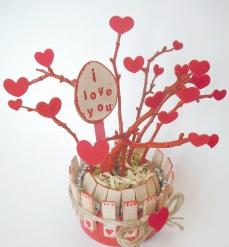 Handmade St`Valentines day crafts.