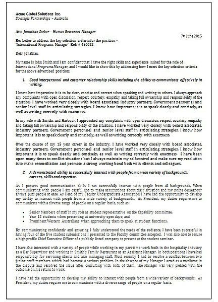 Cover Education Application Examples Letter Job