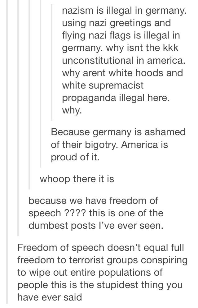 Free Speech. You keep saying that. I don't think it means what you think it means.